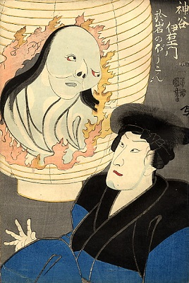 Kuniyoshi_the_ghost_in_the_lantern